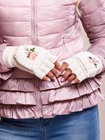 Białe rękawiczki z haftem                                  zdj.                                  2