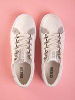 Białe tenisówki BIG STAR z ozdobnymi szlufkami                                   zdj.                                  2