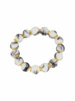 Biało - czarna Bransoletka koralikowa