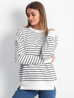 Biało-czarna bluza Continuously                                  zdj.                                  1