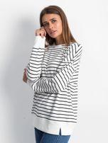 Biało-czarna bluza Continuously                                  zdj.                                  3