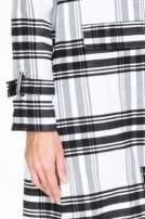 Biało-czarny wełniany płaszcz w kratę zapinany na jeden guzik                                  zdj.                                  6