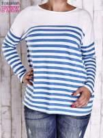Biało-niebieska bluzka w paski PLUS SIZE                                  zdj.                                  1