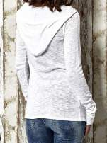 Biały sweter z kapturem zasuwany na suwak Funk n Soul                                                                          zdj.                                                                         7