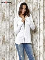 Biały sweter z kapturem zasuwany na suwak Funk n Soul                                  zdj.                                  5