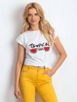 Biały t-shirt Perfectly                                  zdj.                                  1