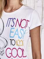 Biały t-shirt SMERFY                                  zdj.                                  6