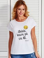 Biały t-shirt damski BAWIĘ JAK SIĘ DA by Markus P                                  zdj.                                  1