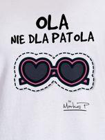 Biały t-shirt damski OLA NIE DLA PATOLA by Markus P                                  zdj.                                  2