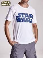 Biały t-shirt męski z nadrukiem STAR WARS