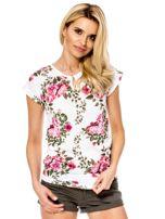Biały t-shirt w kwiaty                                  zdj.                                  1