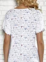 Biały t-shirt w serduszka z napisem MY SWEET HEART Funk 'n' Soul                                  zdj.                                  5