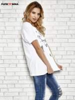 Biały t-shirt w serduszka z napisem THE CUTEST GIRL Funk 'n' Soul                                  zdj.                                  3