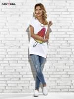 Biały t-shirt z lodowym nadrukiem Funk n Soul                                                                          zdj.                                                                         2