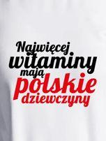 Bluza NAJWIĘCEJ WITAMINY MAJĄ POLSKIE DZIEWCZYNY ecru                                  zdj.                                  2