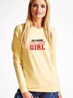 Bluza damska 100% ORIGINAL POLISH GIRL jasnożółta                                  zdj.                                  1
