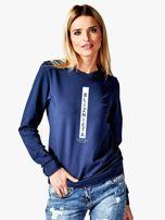 Bluza damska BLIŹNIĘTA znak zodiaku granatowa                                  zdj.                                  1
