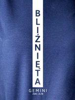 Bluza damska BLIŹNIĘTA znak zodiaku granatowa                                  zdj.                                  2