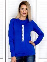Bluza damska BLIŹNIĘTA znak zodiaku kobaltowa                                  zdj.                                  1