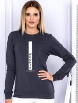 Bluza damska WODNIK znak zodiaku grafitowa                                  zdj.                                  1