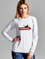 Bluza damska patriotyczna PATRIOTKA z orłem jasnoszara