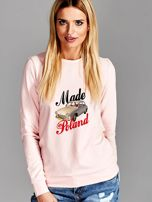 Bluza damska patriotyczna Syrenka MADE IN POLAND różowa                                  zdj.                                  1