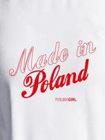 Bluza damska patriotyczna nadruk MADE IN POLAND ecru                                  zdj.                                  2