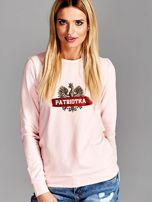Bluza damska patriotyczna z Orłem Białym PATRIOTKA różowa                                  zdj.                                  1