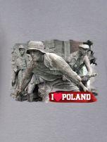 Bluza damska patriotyczna z grafiką I LOVE POLAND szara                                  zdj.                                  2