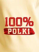 Bluza damska patriotyczna z nadrukiem 100% POLKI żółta                                  zdj.                                  2