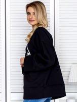 Bluza damska z górskim nadrukiem i szerokimi rękawami czarna                                  zdj.                                  5