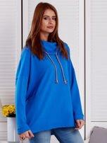 Bluza damska z kolorowymi troczkami niebieska                                  zdj.                                  5
