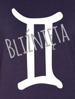 Bluza damska z motywem znaku zodiaku BLIŹNIĘTA grafitowa                                  zdj.                                  2