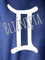 Bluza damska z motywem znaku zodiaku BLIŹNIĘTA granatowa                                  zdj.                                  2