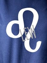 Bluza damska z motywem znaku zodiaku LEW granatowa                                  zdj.                                  2