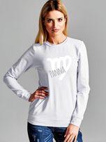 Bluza damska z motywem znaku zodiaku PANNA jasnoszara                                  zdj.                                  1