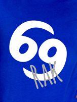 Bluza damska z motywem znaku zodiaku RAK kobaltowa                                  zdj.                                  2