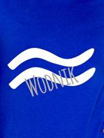 Bluza damska z motywem znaku zodiaku WODNIK kobaltowa                                  zdj.                                  2