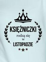 Bluza damska z nadrukiem KSIĘŻNICZKI Z LISTOPADA miętowa                                  zdj.                                  2