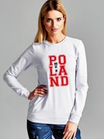 Bluza damska z nadrukiem MADE IN POLAND jasnoszara