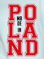 Bluza damska z nadrukiem MADE IN POLAND miętowa                                  zdj.                                  2