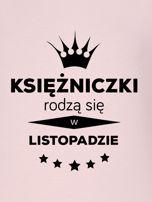 Bluza damska z nadrukiem tekstowym KSIĘŻNICZKA różowa                                  zdj.                                  2