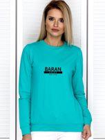 Bluza damska z nadrukiem znaku zodiaku BARAN morska                                  zdj.                                  1