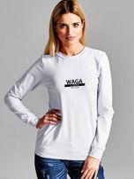 Bluza damska z nadrukiem znaku zodiaku WAGA jasnoszara                                  zdj.                                  1