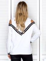 Bluza damska z ściągaczami biała                                  zdj.                                  2