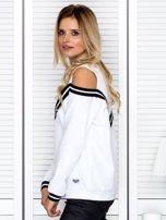 Bluza damska z ściągaczami biała                                  zdj.                                  5