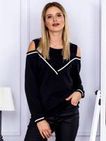 Bluza damska z ściągaczami czarna                                  zdj.                                  1
