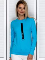 Bluza damska znak zodiaku RYBY turkusowa                                  zdj.                                  1