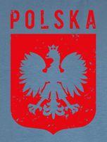Bluza patriotyczna POLSKA z nadrukiem Orła Białego niebieska                                  zdj.                                  2