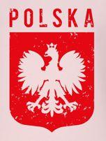 Bluza patriotyczna POLSKA z nadrukiem Orła Białego różowa                                  zdj.                                  2